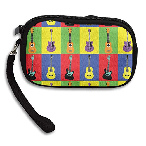 Pencil Bag Cute Stationery Bag Small Fresh Coin Bag Custom Creative Student Pencil Case Musical Instruments Guitars Pop Art