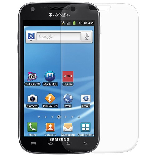 Amzer AMZ94933 ShatterProof Screen Protector Shield for Samsung Galaxy S 2 SGH-T989 - 1 Pack - Retail Packaging - Front Coverage