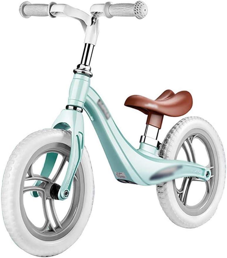 NJC キッズバランスバイク、クラシック軽量ノーペダル、調整可能なハンドルバーとシートサイクリングトレーニング(幼児用)、ウォーキング用自転車