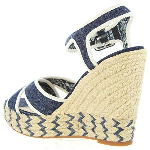 Sandalias Pls90224 559 Pepe De Walker Dk Denim Jeans Mujer rxRqrwAv