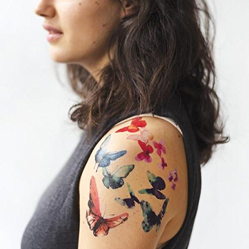 Tattly Temporary Tattoos Watercolor Butterflies Set by Tattly (Image #1)