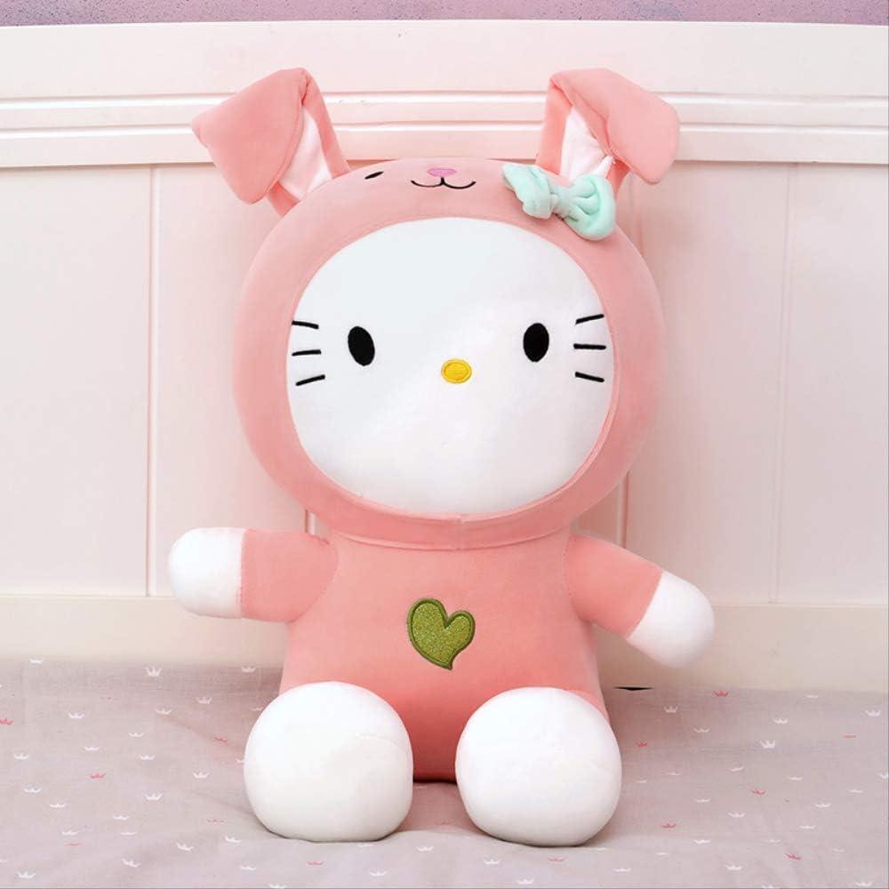 DOUFUZZ SNHPP Lindo Hello Kitty Vestido para el Regalo de cumpleaños de la Chica de Juguete de Peluche de los niños 50cm Conejo en Polvo
