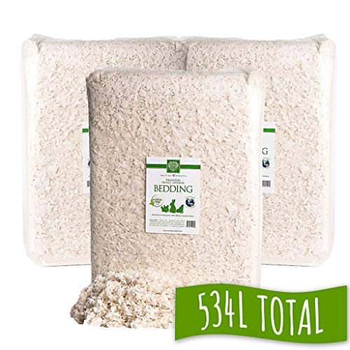 Small Pet Select Unbleached White Paper Bedding (3 Pack), 178L