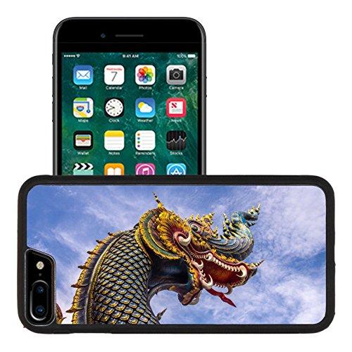 Liili Apple iPhone 7 plus iPhone 8 plus Aluminum Backplate Bumper Snap iphone7plus/8plus Case headshot of naga sculpture at thai Buddhist temple Chiangrai Thailand 28651810 - Naga Heads