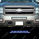 07-10 Chevy Silverado 2500/3500 Black Rivet Stainless Steel Mesh Grille Grill