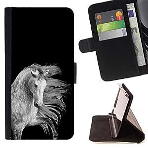 Ihec-Tech / Negro Flip PU Cuero Cover Case para HTC Desire 820 - Noir Blanc Gris Belle