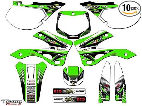 Team Racing Graphics kit compatible with Kawasaki 1999-2002 KX 125//250 ANALOG Complete Kit