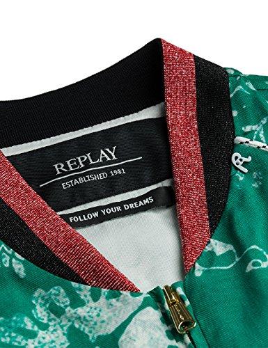 Replay Women's Women's Green Jacket Viscose Green