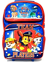 2017 New Arrive Paw Patrol Chase, Marshall, Tan  TEAM PLAYERS! 16 Rolling/Roller Backpack
