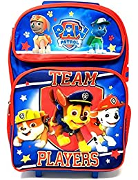 """2017 New Arrive Paw Patrol Chase, Marshall, Tan """" TEAM PLAYERS!"""" 16"""" Rolling/Roller Backpack"""