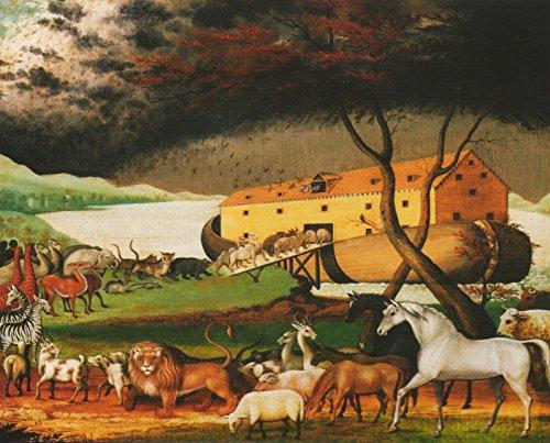 - Wall Decor Noah's Ark by Edward Hicks Religious Kids Room Art Print Poster (16x20)