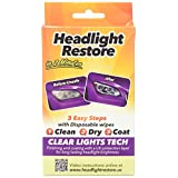 CLT Headlight Restoration Kit, Headlight Lens Cleaning Wipes