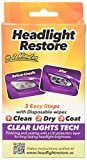 Automotive : CLT Headlight Restoration Kit, Headlight Lens Cleaning Wipes