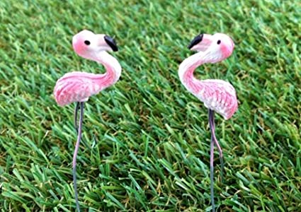Amazon.com : Mini Flamingo for Fairy Mini Garden (2 pcs) : Miniature ...