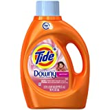 Tide Plus a touch of Downy High Efficiency Liquid Laundry Detergent, April Fresh - 92 oz