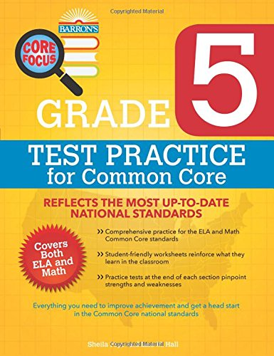 Barron's Core Focus: Grade 5 Test Practice for Common Core