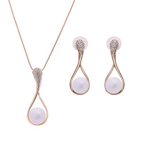 Yinew perle di cristallo ciondolo collana ciondolo donna lusso maglione collana a catena lunga Lega Silver As description