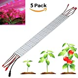 [Pack of 5] Derlights 0.5m 10W Grow Light Bar With 36pcs 5050SMD Led DC 12V Aluminum Shell for Indoor Garden Greenhouse Flowering Plant Hydroponics System (Blue + Red) For Sale