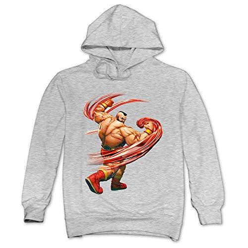 XJBD Men's Street Fighter V Novel Sweatshirt Ash Size XXL
