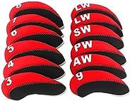 Big Teeth Golf Iron Head Covers 12Pcs Neoprene Golf Club Protector for Titleist Callaway Ping Taylormade