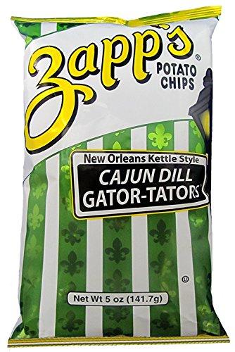Zapp's Kettle Style Potato Chips - Cajun Dill Flavor - 5 Oz. (8 Bags)