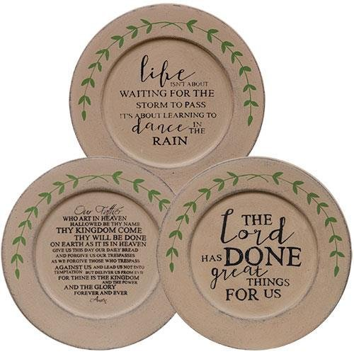 Decorative plate Lords Prayer Plate, Asst. Set of 3