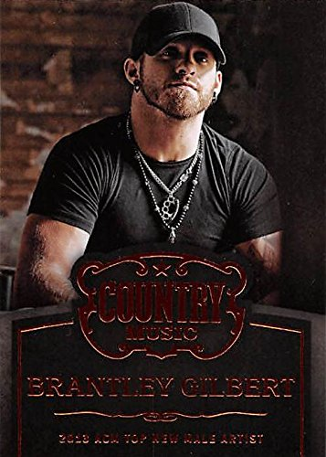 Brantley Gilbert trading card (Country Music, 2013 ACM Top New Male Artist) 2014 Panini