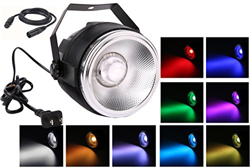 Par LED stage light,TOM 40W RGBW COB par can wash lights with polished aluminum reflector plus small dome len and 7 DMX512 channel stage lighting for wedding/party/theater