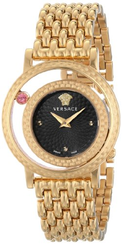 Versace Women's VDA040014 Venus Analog Display Quartz Gold-Tone Watch (Negative Space Watch compare prices)