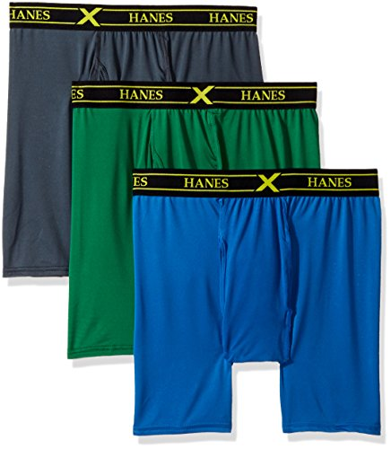 3-Pack X-Temp Performance Stretch Boxer Briefs, Assorted, Small ()