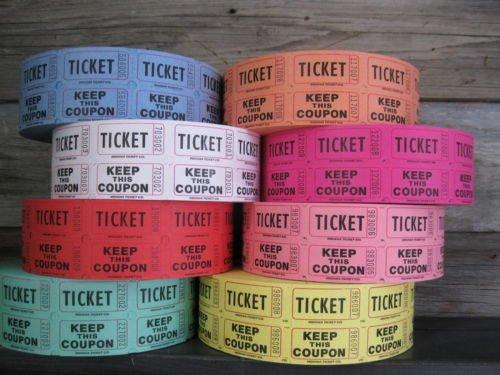 Raffle Tickets - 4 Rolls of 2000 Double
