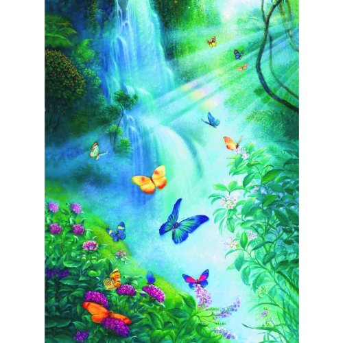 Butterflies in the Mist Jigsaw Puzzle 3000pc