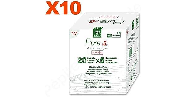 Compresas de gasa estéril 8 capas, 10 x 10 cm lote 10 paquetes de ...