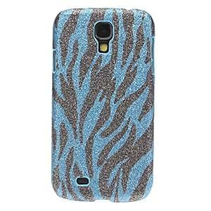 HP Bling Zebra Stripe Pattern Hard Case for Samsung Galaxy S4 I9500 , Blue