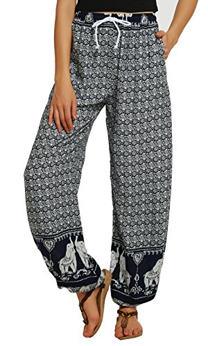 d23b29446b9 Urban GoCo Women Boho Harem Pants Hippie Trousers