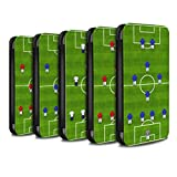 eSwish PU Leather Wallet Flip Case/Cover for Samsung Galaxy Note 10+/Plus/5G / Pack 9pcs Design/Football Formation Collection
