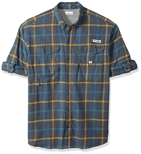 Columbia Men's Bonehead Flannel Long Sleeve Shirt, Mystery P