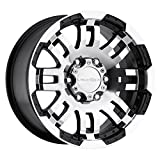 375 tires - Vision 375 Warrior Gloss Black Wheel with Machined Face (16x6.5/6x130mm)