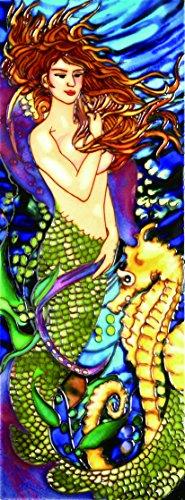 Mermaid Seahorse - Decorative Ceramic Art Tile - 6