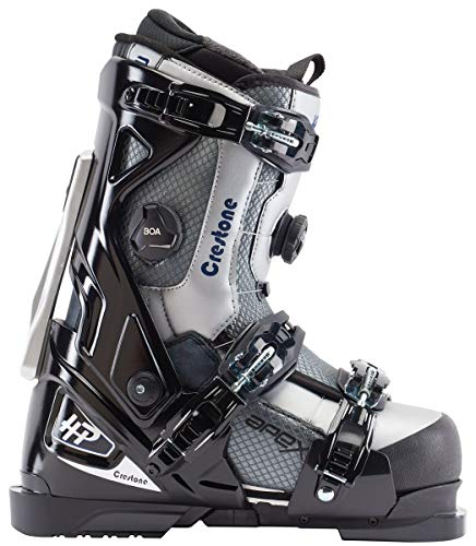Apex Ski Boots Crestone All Mountain Ski Boots (Men's Size 27) Walkable Ski Boot System with Open-Chassis Frame for Intermediate/Advanced Skiers (Male Ski Boots)