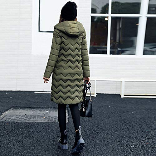 A Green Leggero Trincea Homebaby Donna Army Giubbotto Addensare Impermeabile Cappotti Caldo Cappuccio Cotone Imbottito Invernali Giacca Lunga Elegante Di Prova Piuma Basamento Piumino Vento HfxfqSwZng