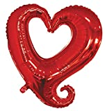 36'' St. Valentine's Day Red Love Heart Wedding Party Helium Mylar Foil Balloons (100)