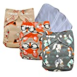 Baby Pocket Diapers Adjustable Reuseable Washable Cloth Diaper Covers for Baby Girls & Boys