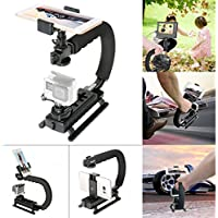 Fantaseal Smartphone stabilizer Cellphone Low Position C-Shaped Rig Stabilizer Shooting System Camera Stabilizer for Samsung Galaxy J7 S8 S7 edge S6 S5 Note 5/ 4/ 3 Stabilizer Holder Stand Support