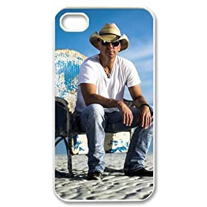 Creative EVA Kenny Chesney iPhone 4,4S Case,Snap-On Protector Hard Cover for iPhone 4,4S