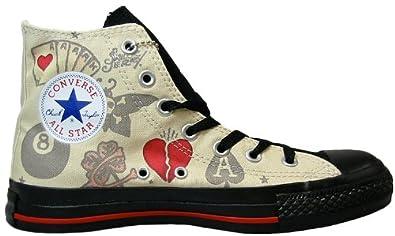 Converse Chucks Schuhe All Star Hi | graurotschwarz, Größe