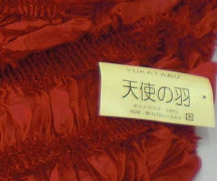 0b6e13e695b9a3 Amazon   ゆかた帯 斜め柄絞り 兵児帯 大人用 天使の羽 光沢感赤色   帯 通販