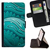 Planetar Colorful Pattern Flip Wallet Leather Holster Protective Skin Case Cover For HUAWEI Google Nexus 6P ( Real Floral Underwater Painting )