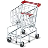"""Melissa & Doug Toy Shopping Cart with Sturdy Metal Frame, Play Sets & Kitchens, Heavy-Gauge Steel Construction, 23.25"""" H x 11.75"""" W x 15"""" L"""