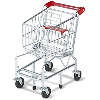 Melissa & Doug Toy Shopping Cart With Sturdy Metal Frame